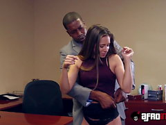 Nymphomaniac Cassidy Klein picked up and fucked in office