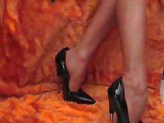Elegant Lady vittuile hänen High Heels