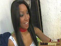 Hot ebony chick love gangbang interracial 27
