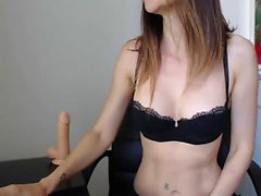 Solo amateur pussy toying