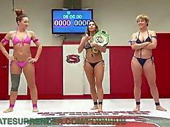 Lesbian Wrestling Winner Humiliates Loser