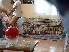 Pair livingroom sex