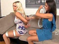 Cali Logan & Danielle Trixie Rope Bondage