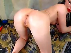 Russian slut fuck yourself in the ass