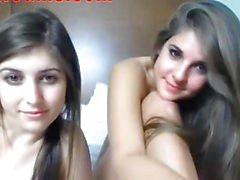 Two Teen Sluts Chatting On Webcam 1