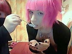 Горячая кролика Boy Cum Eating Сладкий Сексуальная
