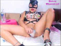 BDSM Latina wife on cam