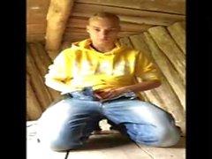 Danish Blond Gay Boy (Kasper) & Spielen mit meinem Schwanz in der Natur (Shelters)