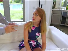 Teen babe Iggy Amore pounded by her stepdad
