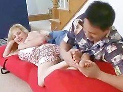 Worshiping Sexy Blonde's feet