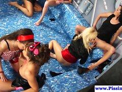WAM lesbian goldenshower orgy party