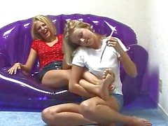 2 Students tickling