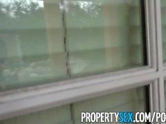 PropertySex - Bad real estate agent fucks client outdoors