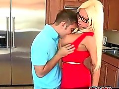 MILF piano teacher and boy toy conspire for a 3 wa