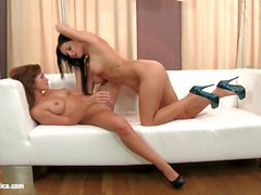 Tess and Viky lesbians filmed by Sapphic Erotica