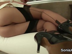 Adulterous english mature lady sonia pops out her massive me