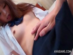 Hot Asian Masturbates Her Pussy During Blowjob