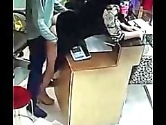Pinay fuck by her boss caught in cctv