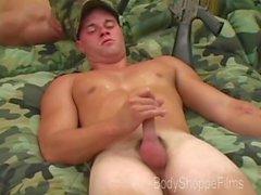 BodyShoppeFilms - Scott - Blond Marine Jacks Pois ensimmäistä kertaa Film