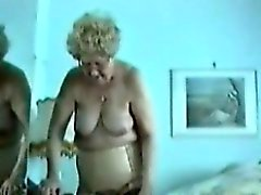 Fat Granny shows her old big pussy in her bedroom