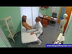 Hawt dark brown patient at doctors fingered