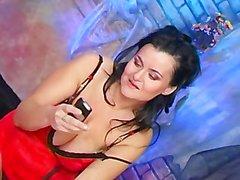 Horny Mom Plays With A Dildo