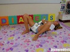 Alina Masturbates in Messy Diaper
