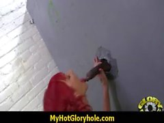 Gloryhole interracial - black monster cock 20