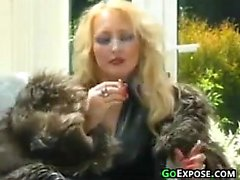 Smoking Blonde Bitch