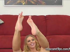 Amateur Busty Blonde Caught On Cam Casting Couch
