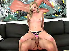 Skylar rides Reverse Cowgirl and gets pounded in Spoon