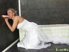 Bride gets wam bukkaked