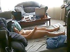 Knubbig fru knullas på hemlagad