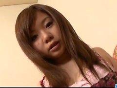 Sweet maid, Aoi Mizumori, pleases two tasty cocks