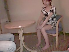 Thin Asian girl calls over a friend to give head and get ba
