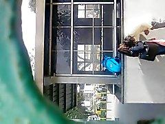 Franja de Bangalore mamada de al aire libre de con un desconocido