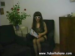 Horny Italian MILF in sunglasses gets herself boinked by a studly younger man