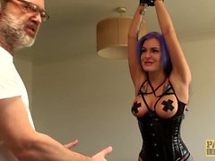 Goth subslut Alexxa Vice ass roughly dicked while using toys