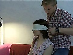 Skinny teen tied up and all holes fucked by her BFs buddy