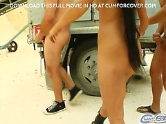 Katerina starts off the movie by sucking four hard cocks on top of a moving bus! She gives a great performance and shows off some of the nastiest and sloppiest deepthroats
