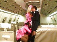 Laryne Laroche and Sothy Hiko on a plane