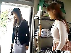 Horny japanese MILFS sucking and fucking part1