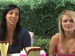 Busty lesbian babes trib