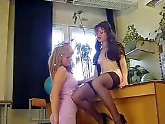 Strapon Lesbians and Hot Russian Threesome