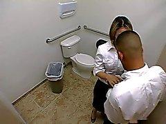 Brandi Bell blowjob in toilet