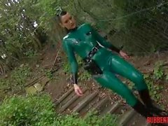 Latex f soldiers playing in forrest - pt 1