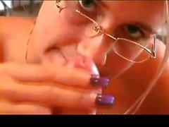 Polish Girl Alicia Handjob With Glasses