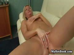 Heres the blonde MILF who will turn your fantasi