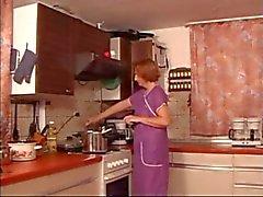 Cozinha maduras Fingered XLX Spanked & Fuked