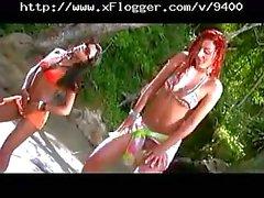 Patricia and Sabrina hot Brazilian lesbos